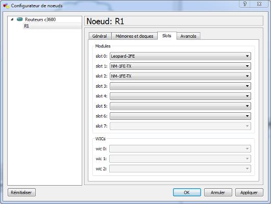 Configuration du routeur R1