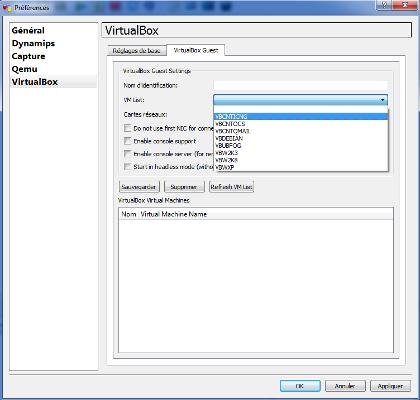 GNS3 - VM List
