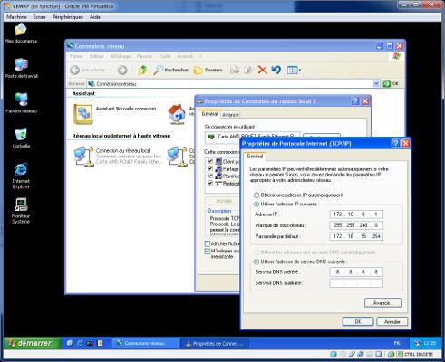 VirtualBox - VMs Carte réseau 2