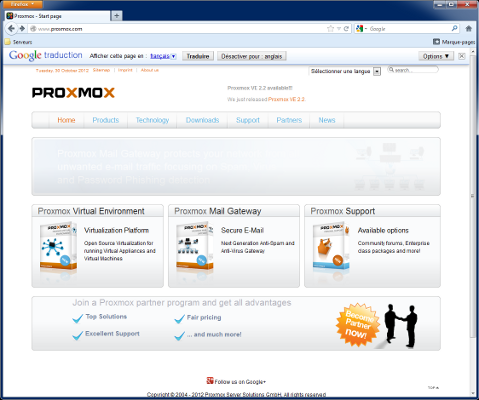 Partie I  Installation de Proxmox VE 2