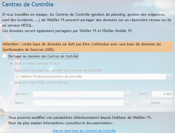 CENTRE DE CONTRÔLE HFSQL